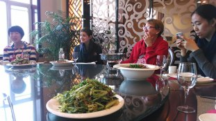 Lunch with Changchun University dance department faculty. Photo by Leisa DeCarlo.